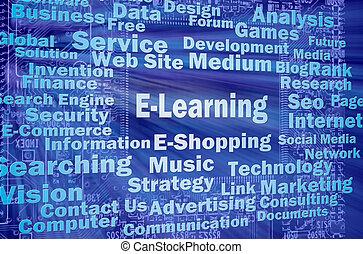 e-learning , γενική ιδέα , λόγια , συγγενεύων , internet