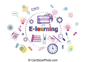 E-learning Banner Online Education Elearning Network Concept