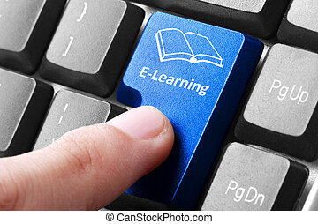 E-learning button on the keyboard