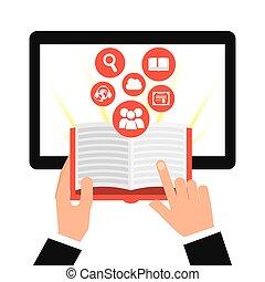 e-learning concept design, vector illustration eps10 graphic...