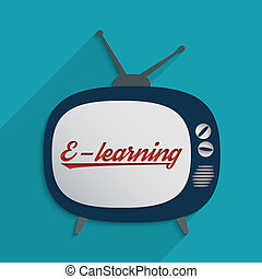 E-learning - Concept for e-learning, global communication...