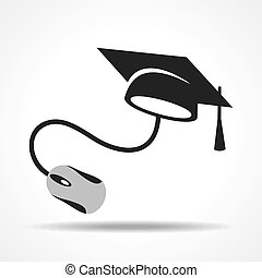 e-learning concept with graduation
