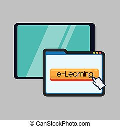E-learning design. education icon. online concept