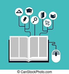 e-learning design, vector illustration eps10 graphic