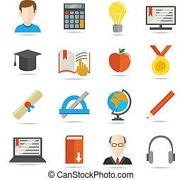 E-learning flat icon