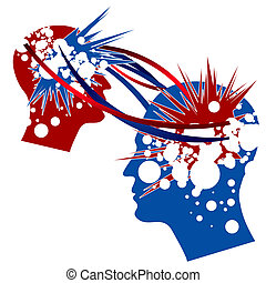 Knowledge Transfer symbolically depicted in red and blue colors.