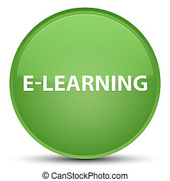 E-learning special soft green round button