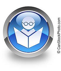 e-leert, glanzend, pictogram