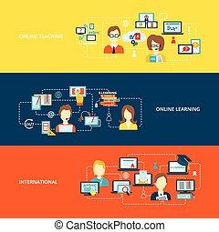 e-lernen, banner, wohnung