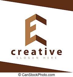 E Letter Build logo vector Template