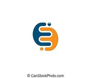 E letter logo vector icon