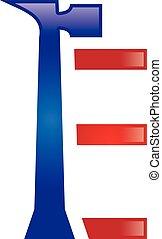 E Letter Repair Logo