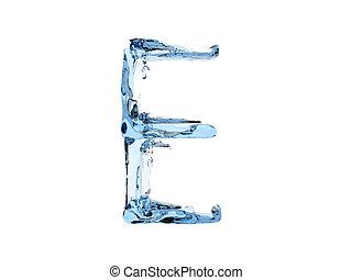 E letter water