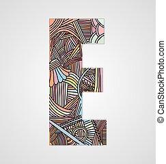 """""""e"""", lettera"""