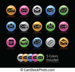e-mail, ícone, jogo, -, gelcolor, série