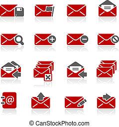 e-mail, ícones, --, redico, série