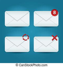 e-mail, ícones