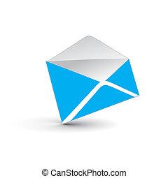 e-mail, 3d, ícone