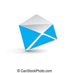 e-mail, 3d, icône