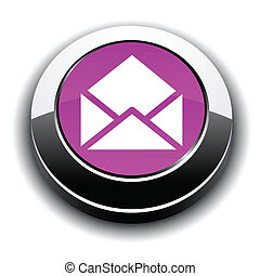 e-mail 3d round button.