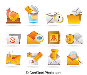 E-mail and Message Icons - vector icon set