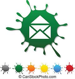 e-mail, blot.
