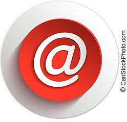 e-mail, botón, elementos, diseño