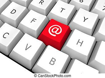 e-mail, bouton, 2