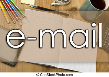 e-mail - business concept with text