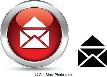 e-mail button. - e-mail realistic button. Vector...