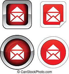 e-mail button set.