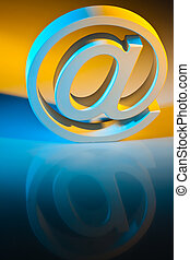 E-mail characters. Online communication.