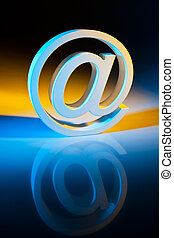 e-mail, communication., characters., online