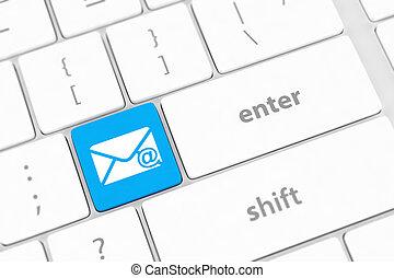 e-mail, computer- schlüssel, tastatur
