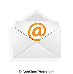 e-mail, conceito, ilustração, proteção