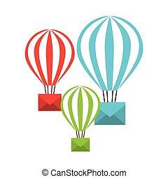 e-mail concept design, vector illustration eps10 graphic