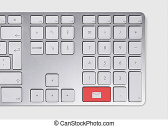 E-mail concept on keyboard