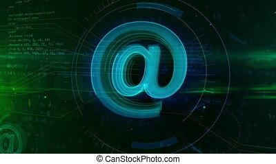 e-mail, concept, signe
