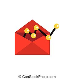 E-mail configuration icon, flat style