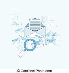 e-mail, durchsuchung, digital, zufriedene , informationstechnologie, geschaeftswelt