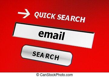 e-mail, durchsuchung