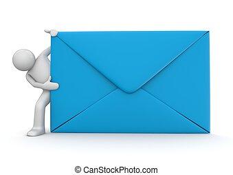 e-mail, en, karakter