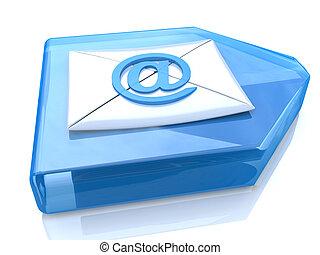 E-Mail Envelope and blue arrow