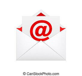 e mail envelope concept illustration