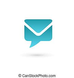 E-mail envelope speech bubble logo icon