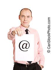 e-mail, für, sie