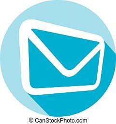 e-mail flat icon