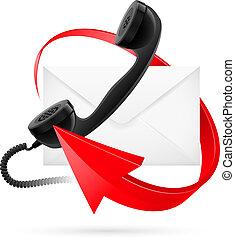 e-mail, flechas