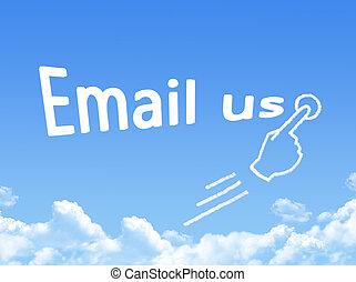 e-mail, forme, message, nuage, nous