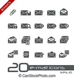 //, e-mail, grondbeginselen, iconen
